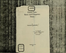 Cover of Poems from Sioux and Chippewa songs