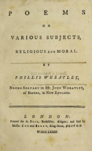 Cover of Poems on various subjects, religious and moral