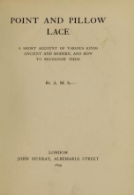 Cover of Point and pillow lace
