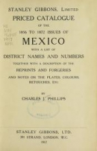 Cover of Priced catalogue of the 1856 to 1872 issues of Mexico