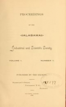 Cover of Proceedings of the Alabama Industrial and Scientific Society
