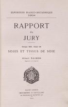 Cover of Rapport du jury, groupe XIII, classe 83: Soies et tissus de soie