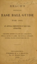 Cover of The Reach official American League base ball guide