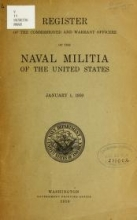 Cover of Register of the commission and warrant officers of the Navy of the United States, including officers of the Marine Corps 1910:Jan.