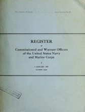 Cover of Register of the commission and warrant officers of the Navy of the United States, including officers of the Marine Corps