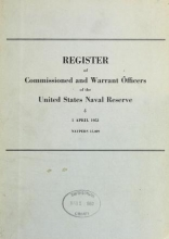 Cover of Register of commissioned and warrant officers of the United States Naval Reserve
