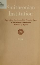 Cover of Report of the Secretary of the Smithsonian Institution and financial report of the Executive Committee of the Board of Regents for the year ending June 30