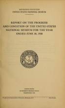 Cover of Report on the progress and condition of the United States National Museum
