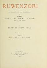 Cover of Ruwenzori