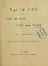 Cover of Sailor life on man of war and merchant vessel