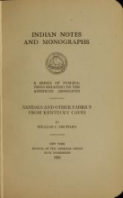 Cover of Sandals and other fabrics from Kentucky caves
