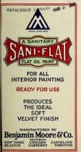 Cover of Sani-flat, sanitary flat oil pain