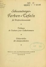 Cover of Schwaneberger, Farben-Tafeln für Briefmarkensammler
