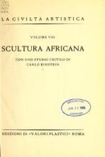 Cover of Scultura africana con uno studio critico