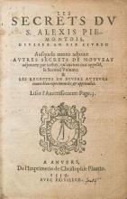 Cover of Les secrets du S. Alexis Piemontois