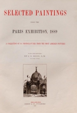 Cover of Selected paintings from the Paris exhibition, 1889