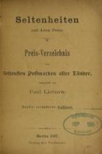 Cover of Seltenheiten und deren Preise