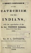 Cover of A short compendium of the catechism for the Indians