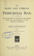 Cover of The signs and symbols of primordial man