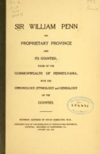 Cover of Sir William Penn