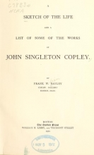 Cover of A Sketch of the life and a list of some of the works of John Singleton Copley