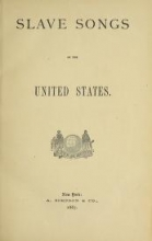 Cover of Slave songs of the United States