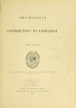 Cover of Smithsonian contributions to knowledge