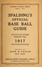 Cover of Spalding's base ball guide, and official league book for
