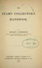 Cover of The stamp collector's handbook