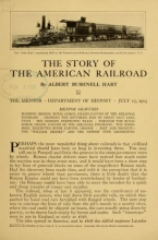 Cover of The story of the American railroad
