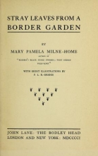 Cover of Stray leaves from a border garden