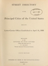 Cover of Street directory of the principal cities of the United States