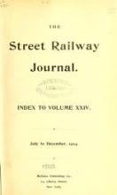 Cover of The Street railway journal