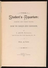 Cover of The student's aquarium (marine and fresh water)