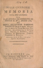 Cover of Sulle cicerchie