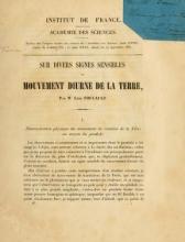 Cover of Sur divers signes sensibles du mouvement diurne de la terre