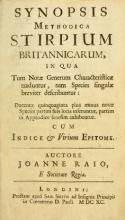 Cover of Synopsis methodica stirpium Britannicarum