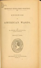 Cover of Synopsis of American wasps