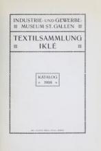 Cover of Textilsammlung Iklé Katalog