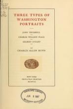 Cover of Three types of Washington portraits