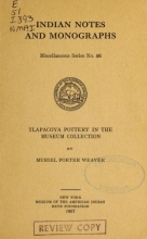 Cover of Tlapacoya pottery in the Museum collection.