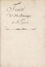 Cover of Traité de mechanique