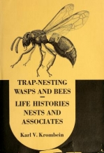 Cover of Trap-nesting wasps and bees- life histories, nests, and associates