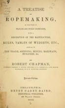 Cover of A treatise on ropemaking