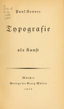 Cover of Typografie als Kunst