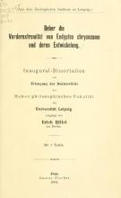 Cover of Ueber die Vorderextremität von Eudyptes chrysocome und deren Entwickelung