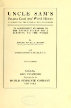 Cover of Uncle Sam's Panama Canal and world history, accompanying the Panama Canal flat-globe