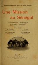 Cover of Une mission au Sénégal