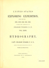 Cover of United States Exploring Expedition v.23 Hydrography (1861) [Text]