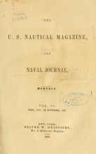 Cover of U.S. nautical magazine and naval journal